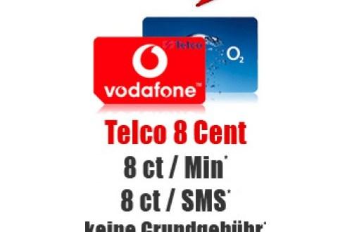 Telco 8 Cent Tarif ohne Laufzeit