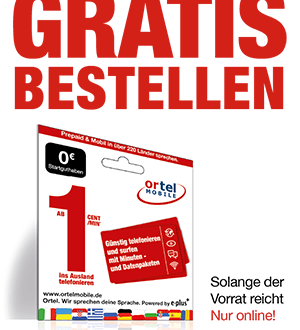 Prepaid Freikarte - ins Ausland ab 1Cent/Min