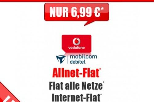 Vodafone Allnet Flat + 1000 MB nur 6,99 € monatlich