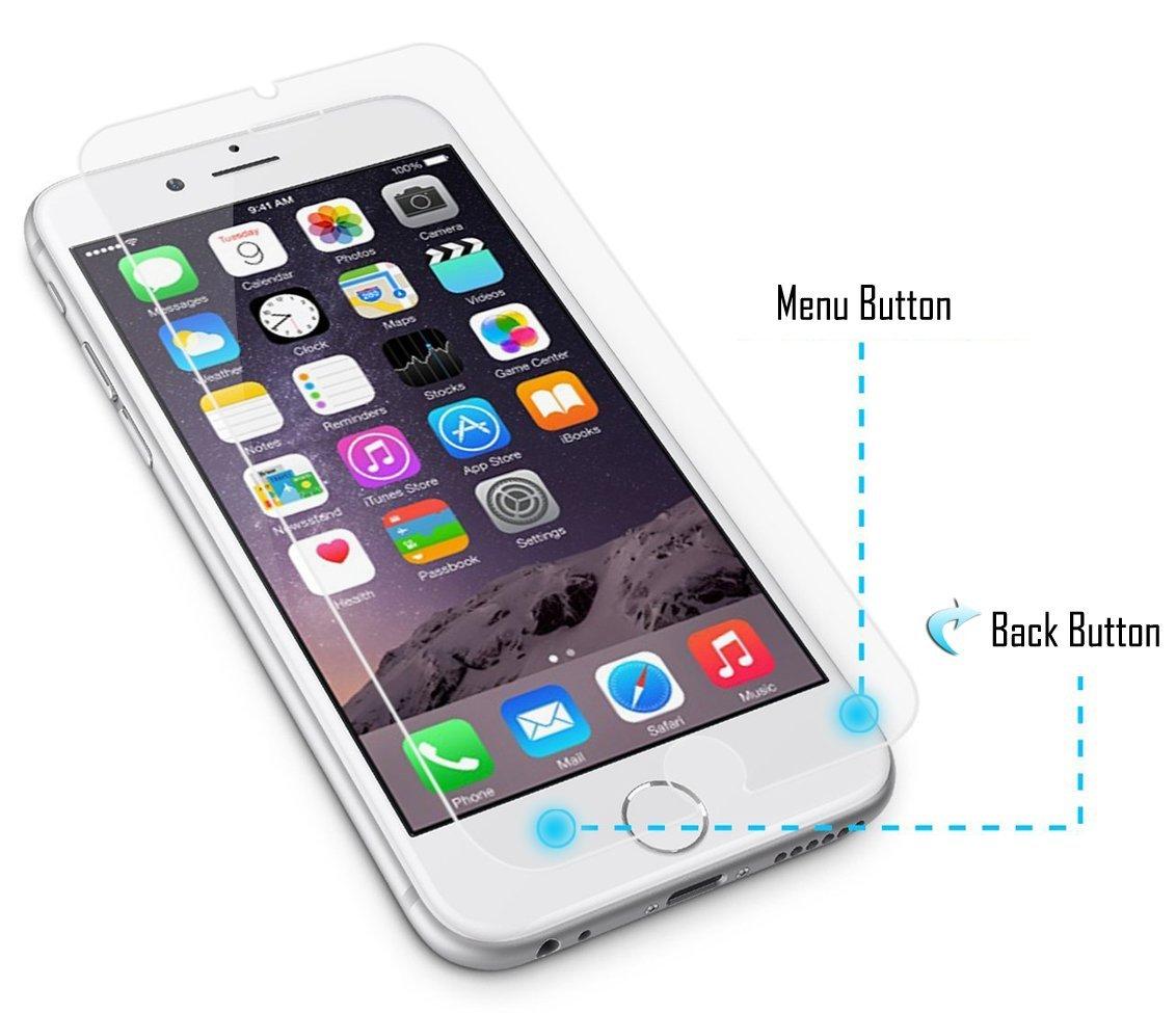 Apple iPhone Panzerglas mit zurück Taste