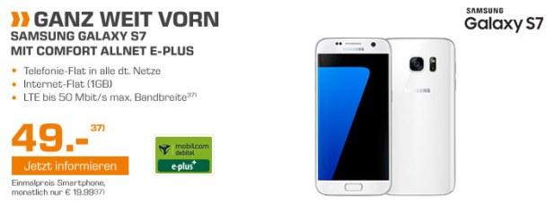 Samsung Galaxy S7 mit Allnet Flat für nur 19.99€ mtl.