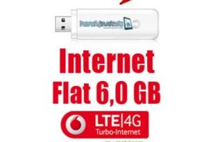 Internet-Flat LTE 225 Mbit/s mit 6GB 14,99€ mtl.