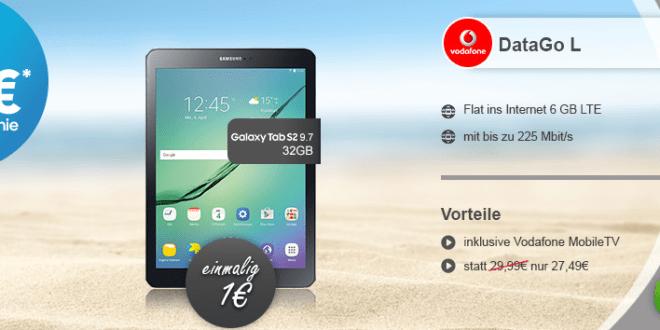 Samsung Galaxy Tab S2 9.7 LTE + 6GB LTE nur 27,49€ mtl.