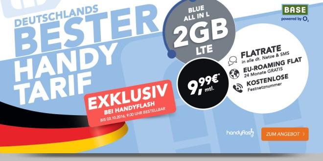 2GB LTE+ Allnet+ SMS+ EU Roaming nur 9,99€ mtl.