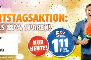 MEGE DEAL! 100 Min + 300 MB + Telekom nur 1,11€ mtl. Nur 24 Std.