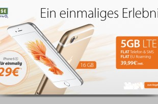 5000 MB LTE+ Allnet+ SMS+ EU Roaming+ iPhone 6s nur 39,99€ mtl.