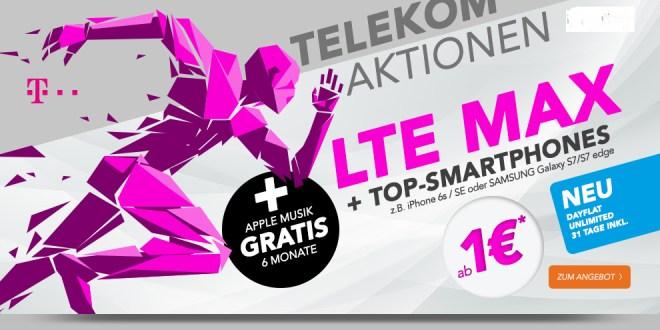 Telekom Aktionen + LTE Max +TOP Smartphones