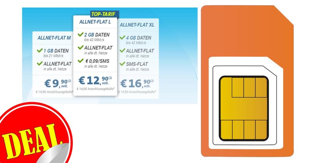 4GB + Allnet + SMS + Telekom nur 16,90€ mtl.
