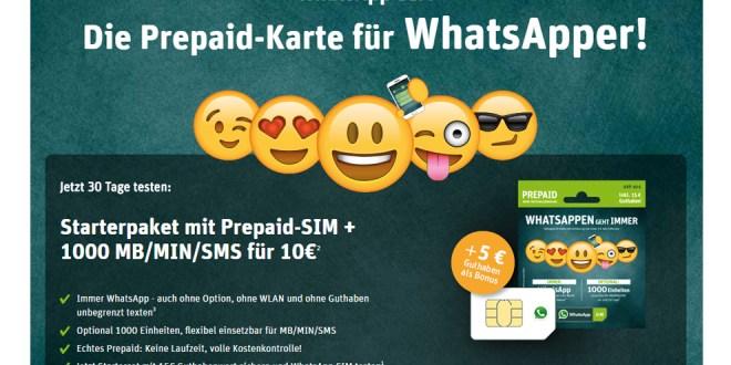 Immer WhatsApp - auch ohne Option/Guthaben