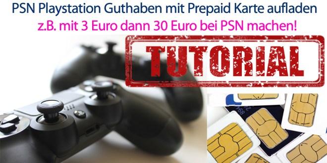 PSN Playstation Guthaben mit Prepaid Karte aufladen