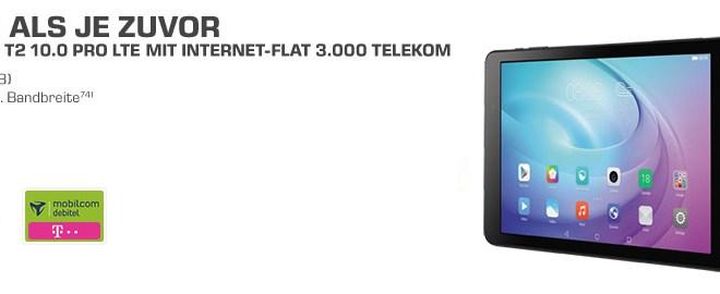 Huawei Mediapad T2 10.0 Pro LTE + Internet-Flat 3.000 Telekom 9,99€ mtl.
