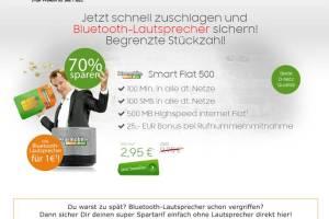 Knaller! 500 MB/100 MIN /100 SMS + Zugabe nur 2,95€ mtl.