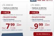 LTE 3000 L+ Allnet+ SMS+ EU+monatlich kündbar nur 9,99€ mtl.