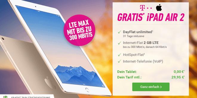 iPad Air 2 + Telekom Data Comfort M Premium nur 29,95€ mtl.