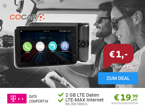 COCAR Car-Phablet + 2GB LTE nur 19,99€ mtl.