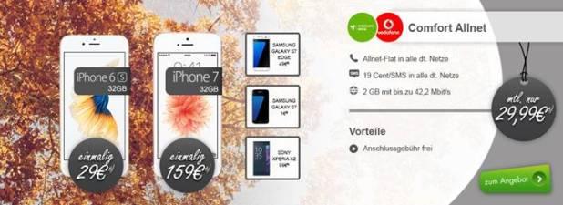 iPhone 6s + Allnet + 2GB nur 29,99€ mtl.