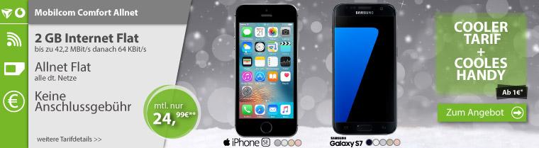 iPhone SE + Allnet Flat + 2GB nur 24,99€ mtl.