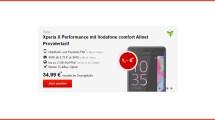Sony Xperia X Performance + Allnet + 2GB nur 24,99€ mtl.