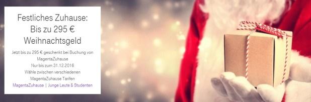 Telekom Magenta Zuhause bis zu 300€ Weihnachtsgeld