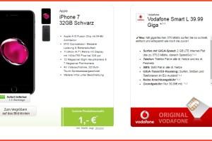 iPhone 7 + Vodafone Smart L 39.99€ mtl.