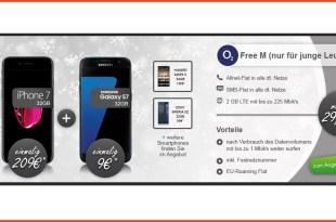 o2 Free M Junge Leute + Samsung S7 nur 29,99€ mtl.