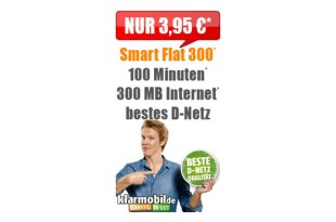100 Min und 300MB Internet im Telekom Netz nur 3,95€ mtl.