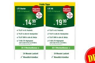 6 GB LTE + Allnet Flat + monatlich kündbar nur 19,99€ mtl.