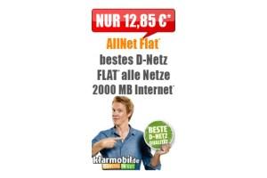 Klarmobil Allnet Flat 2GB Telekom Netz 12.85€ mtl.