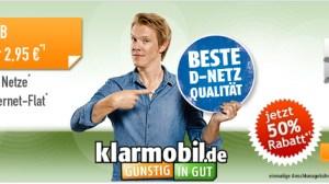 Klarmobil Smartphone Flat 400 Telekom Netz nur 2,95€ mtl.