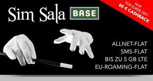 BASE Tarife ab 2GB LTE und Allnet Flat mit 60€ Cashback