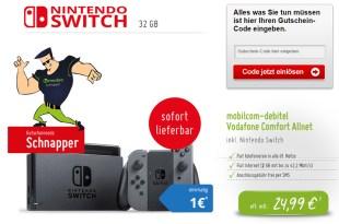 Nintendo Switch + Allnet Flat + 2GB nur 24,99€ mtl.