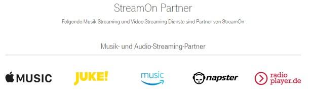 Telekom Magenta Tarife mit Stream On