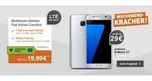 Galaxy S7 mit 1GB LTE und Allnet Flat nur 19,99€ mtl.