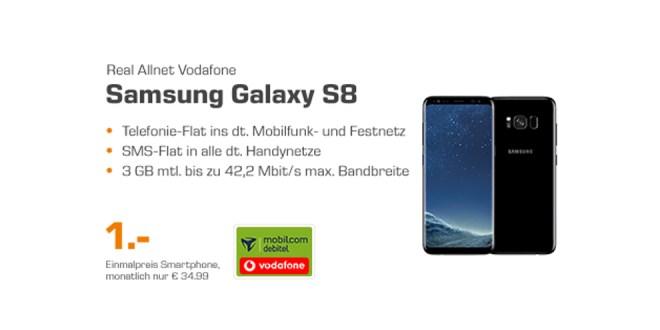 Galaxy S8 mit 4GB und Allnet Flat nur 34,99€ mtl.