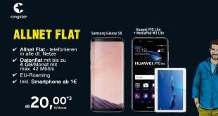 Galaxy S8 mit Congstar Allnet Flat nur 20€ mtl.