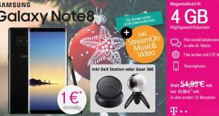 Galaxy Note 8 + DeX Station mit Telekom Magenta Mobil M