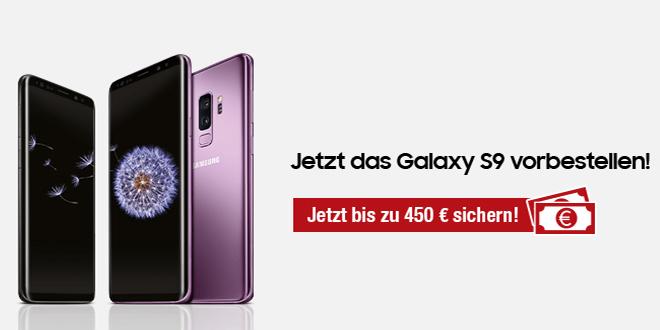 Galaxy S9 mit 4 GB LTE Allnet und EU Romaing nur 42,99€ mtl.