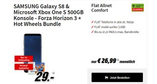 Galaxy S8 & Xbox One S 500GB - Forza Horizon 3 + Hot Wheels Bundle nur 26,99€