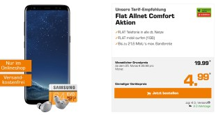 Galaxy S8 & Gear IconX 2018 & microSDXC 64GB nur 19,99€ mtl.