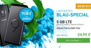 Galaxy S9 mit 5 GB LTE Allnet nur 24,99€ mtl.
