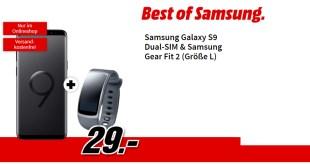 Galaxy S9 + Gear Fit 2 mit Allnet nur 19,99€ mtl.