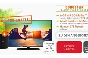 6GB Allnet mit Philips UHD TV nur 30€ mtl.