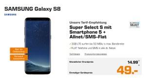 Galaxy S8 mit 3 GB LTE nur 14,99€ mtl.