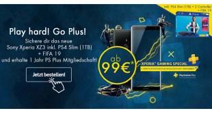 Sony Xperia XZ3 + PS4 Slim + FIFA 19 nur 51,9€ mtl.