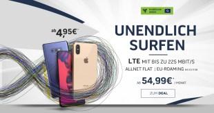 Unendlich Surfen mit Smartphone nur 54,99 mtl.
