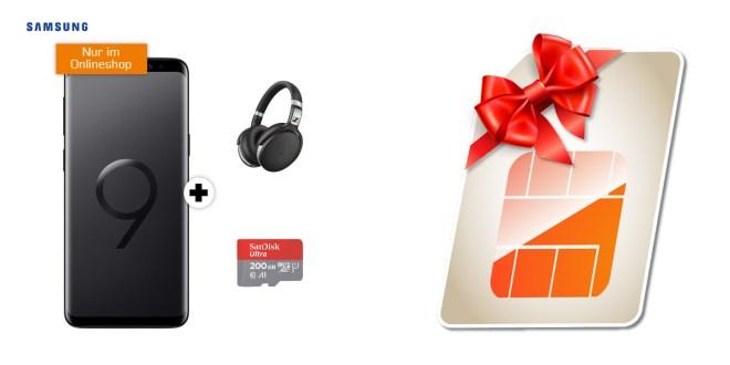 Galaxy S9 mit Sennheiser HD 4.50 und 200 GB SD nur 19,99€ mtl.
