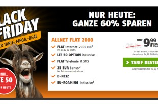 2GB LTE Allnet im Telekom Netz nur 9,99€ mtl.