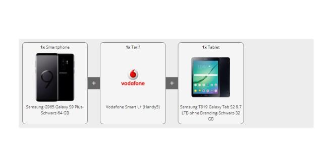 Galaxy S9 + Tab S2 9.7 mit 5 GB LTE nur 36,99€