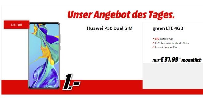 Huawei P30 mit 4GB LTE nur 31,99€