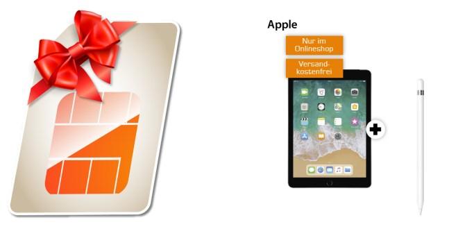 APPLE iPad + 5 GB LTE nur 19,99€
